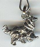 Collie Dog Silver Zipper Pull