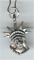 Statue of Liberty Head Silver Zipper Pull